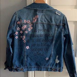 Custom jean jacket